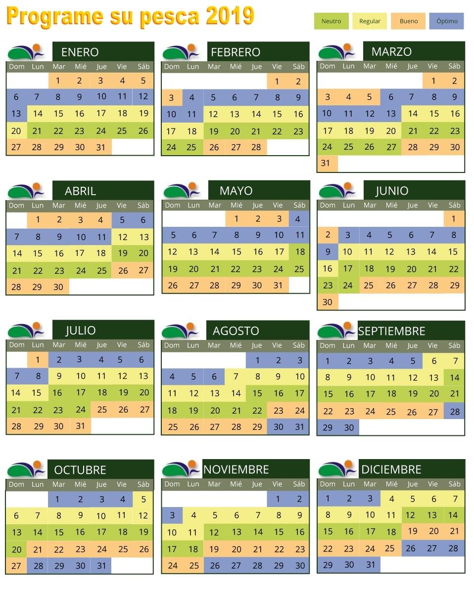 Calendario De Pesca.Costa Florentino Puerto Alvear Entre Rios